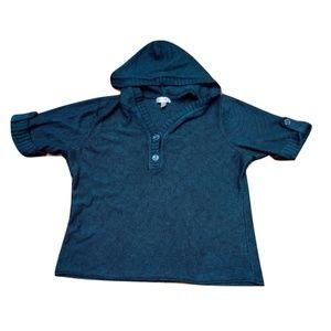 PLUS☃️ Dressbarn Roll-Up Sleeve Hood Sweater 22/24